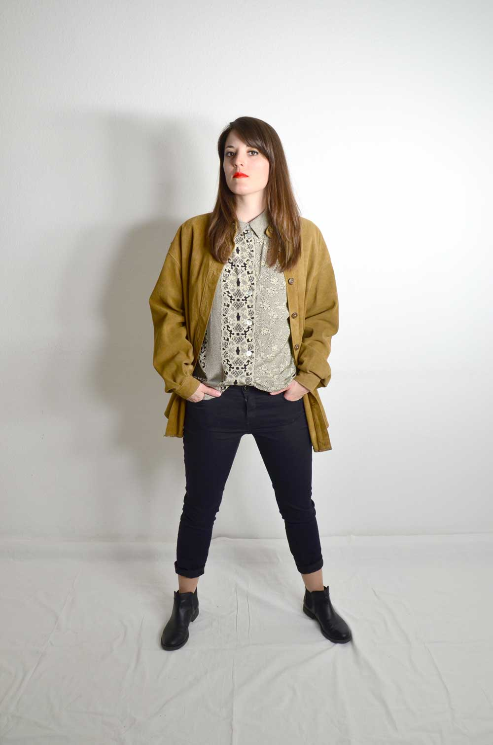 Powertrip Damen Vintage Lederjacke