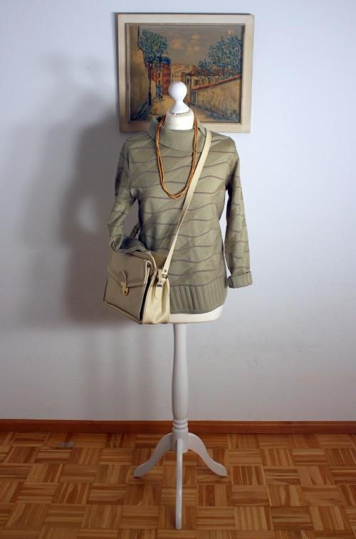 Damen-Pullover-Grün