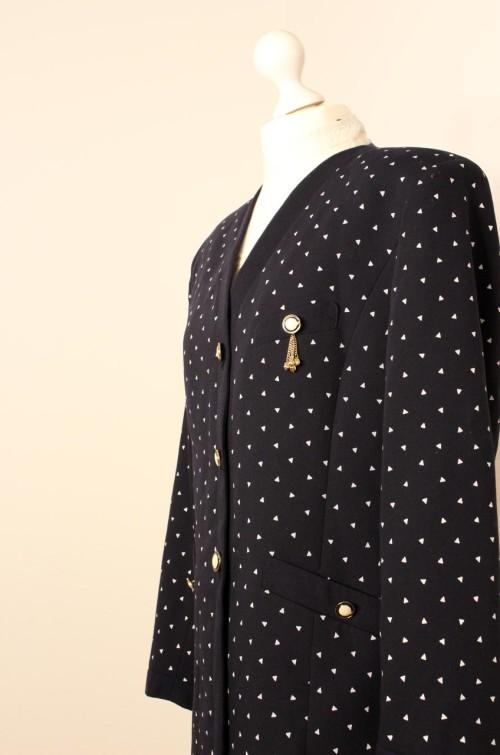 vintage-blazer-dunkelblau