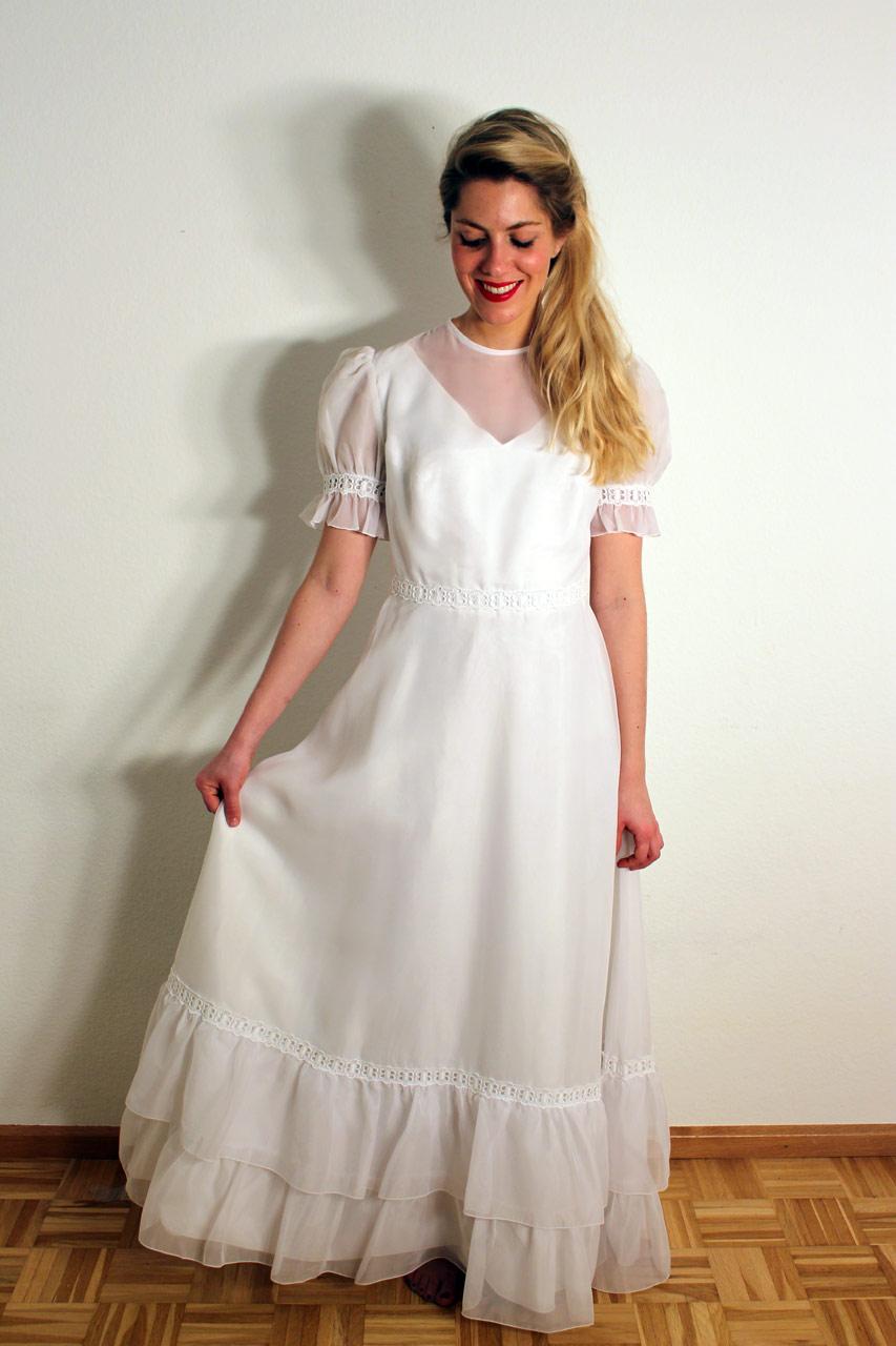 Vintage 70er Jahre Brautkleid