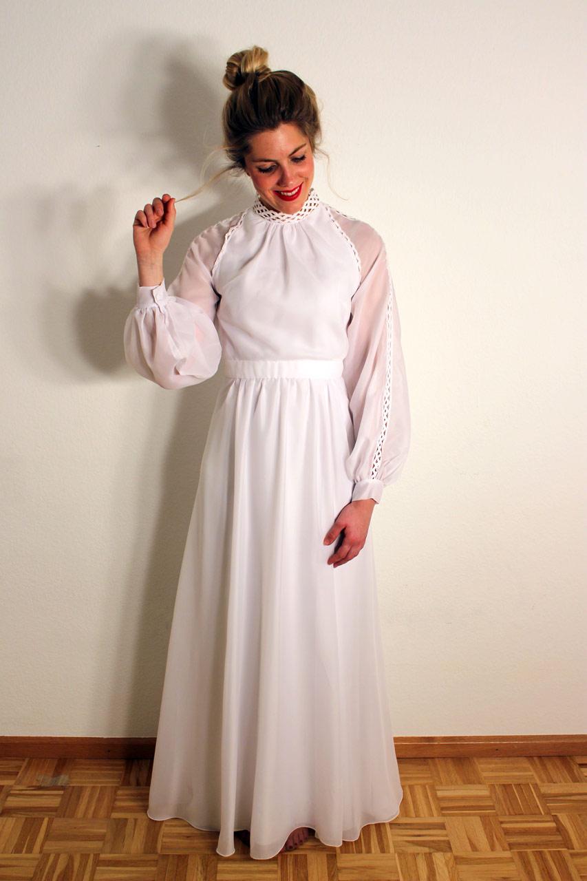 Vintage Brautkleid Langarm