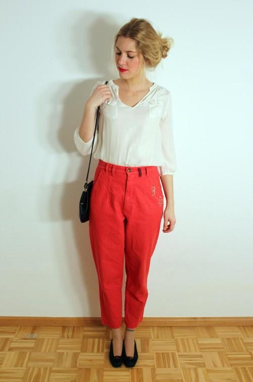 vintage-damen-jeans-rot