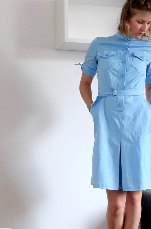 Second-Hand-Kleid-hellblau