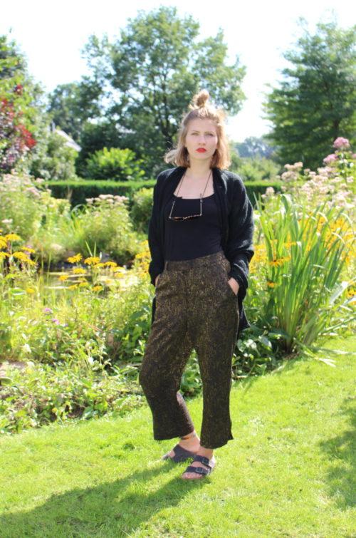 Vintage Hose mit Paisley Muster