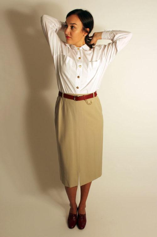vintage-damenrock-beige