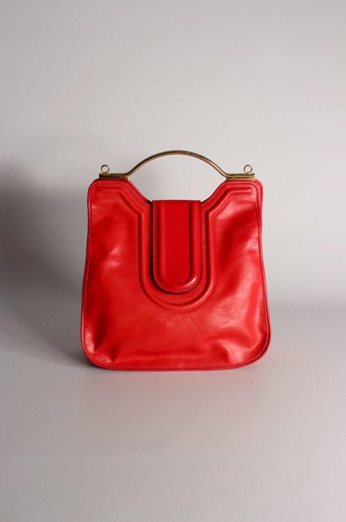 Vintage-Handtasche-rot