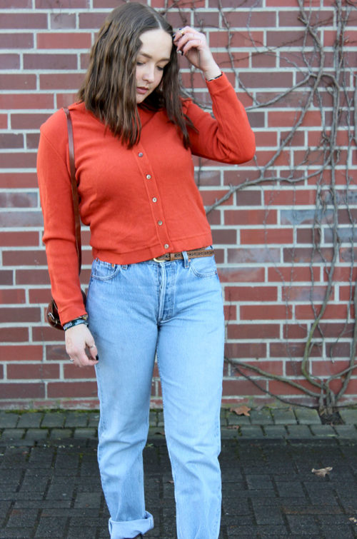 Second-Hand-Strickjacke-Damen