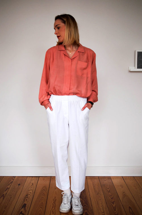 Vintage-Hose-Weiß