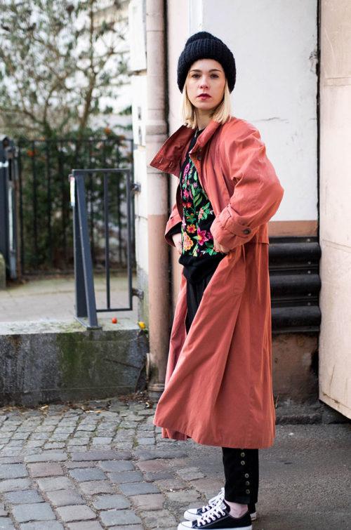 Vintage-Trenchcoat-Damen