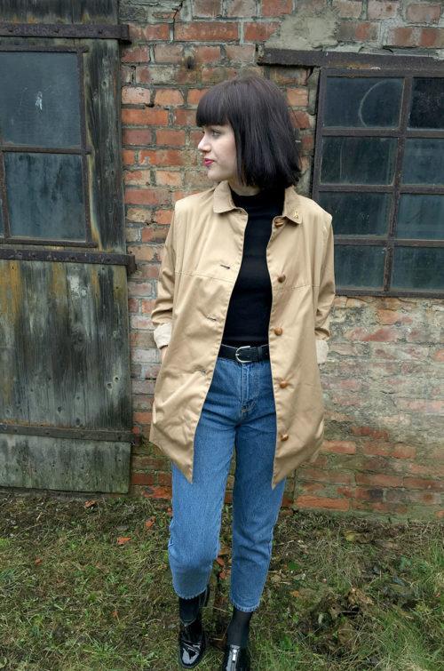 Vintage-Jacke-Beige