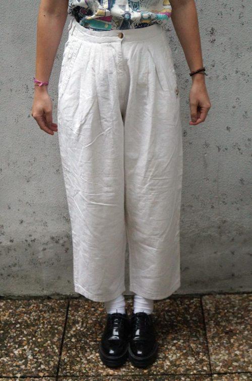 Bundfaltenhose-Damen-Sommer