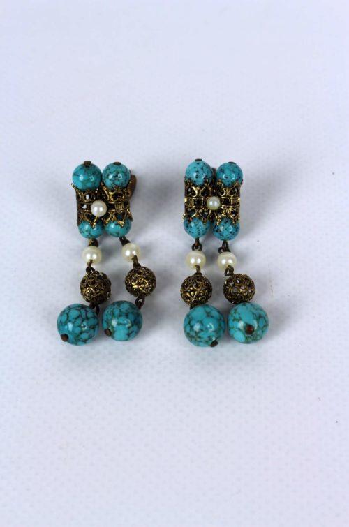 Ohrringe-blau-weiß