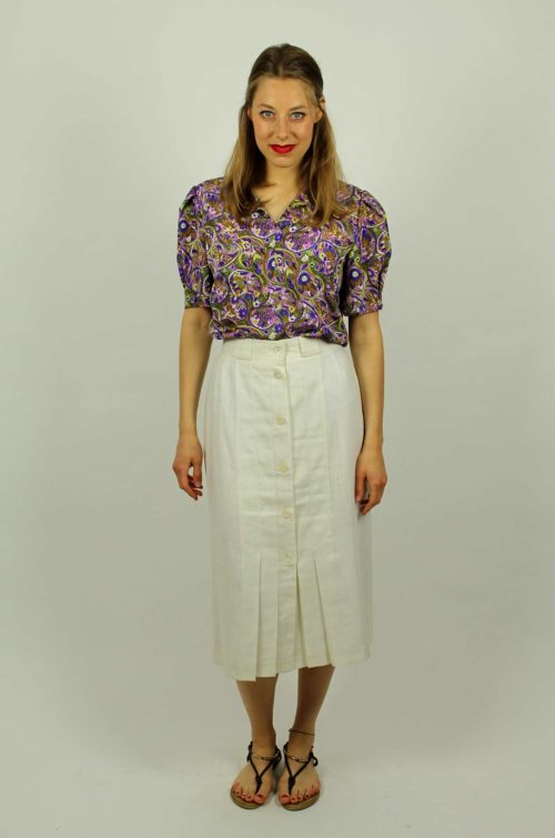 Vintage-Bluse-Blumen