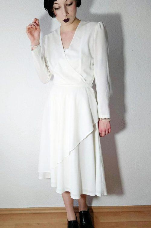 Langarm Kleid Weiß