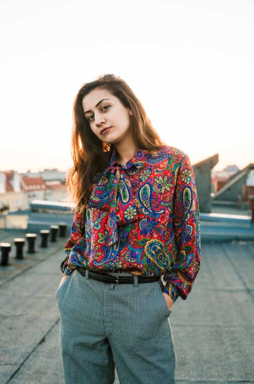 Vintage Bluse Paisley Muster