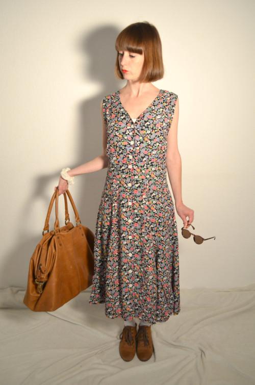 Vintage-Blumenkleid