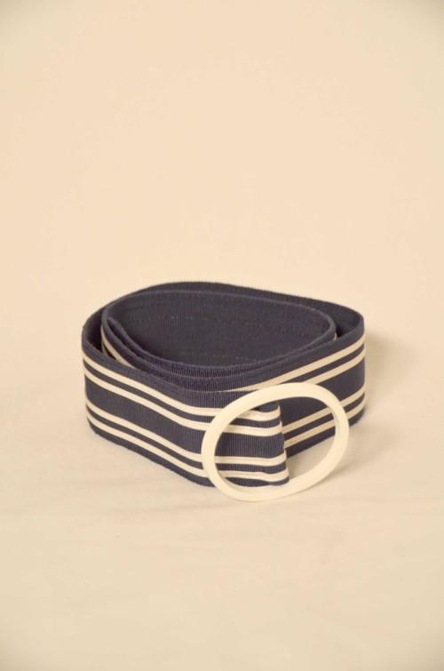 Vintage Gürtel blau-weiß