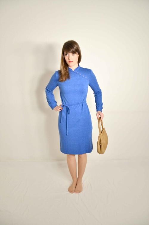 Blaues Uli-Richter Designer Kleid