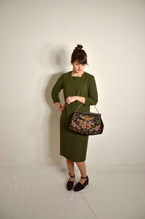 Designerkleid Siegelstoff Haute Couture Modèle