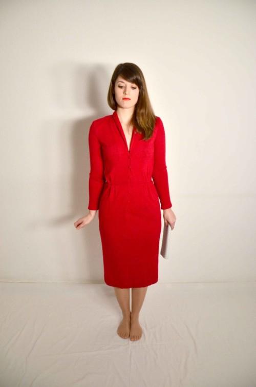 Rotes Uli Richter Designer Kleid
