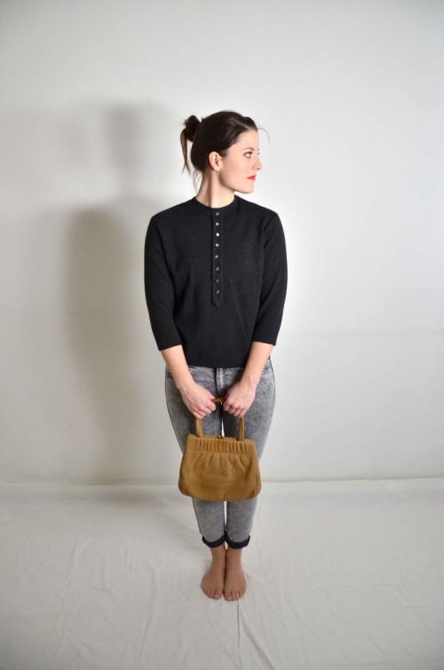 Vintage-Pullover-grau