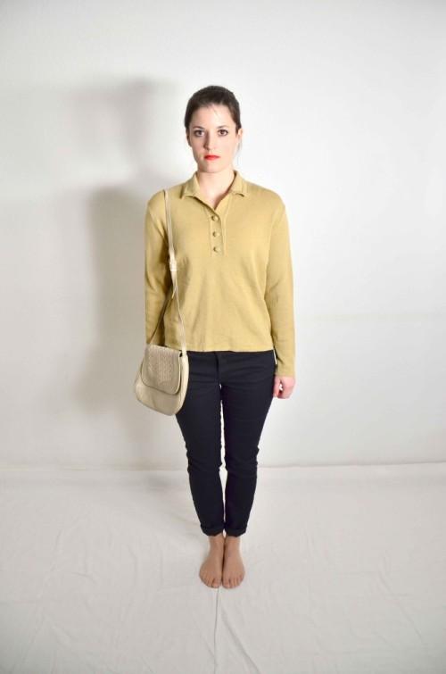 Vintage-Pullover-mit-Kragen