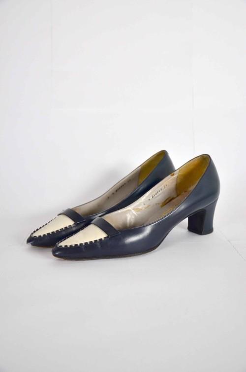 Blaue Vintage Schuhe