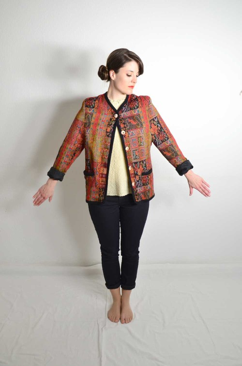 Bunte Vintage Jacke Damen
