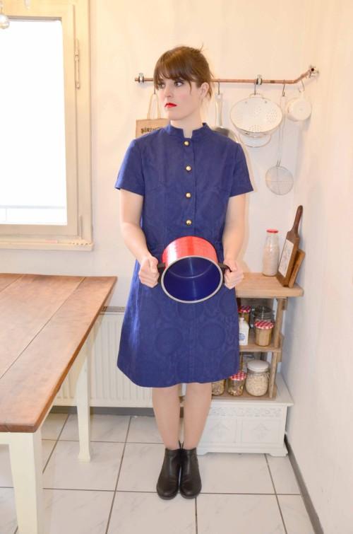 Blaues Vintage Kleid