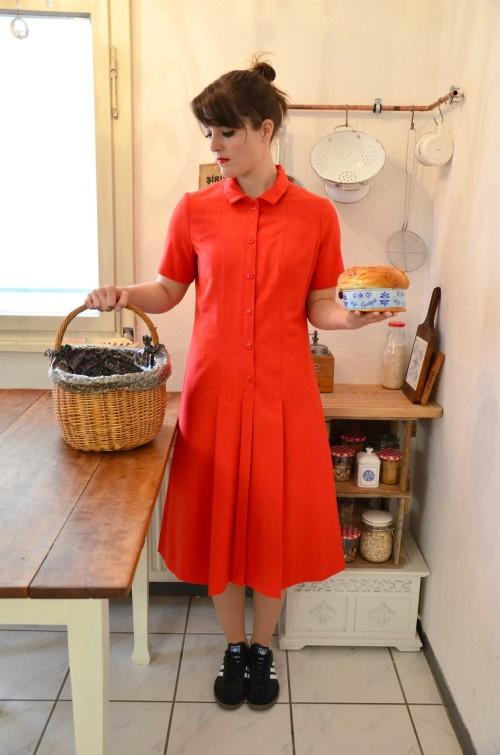 Vintage Sommerkleid rot