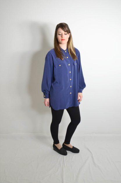 Blaue Damen Bluse