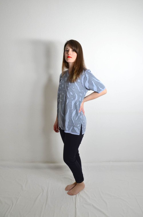 Blaues Vintage T-Shirt