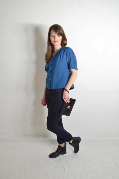 Kurzarm Bluse Vintage