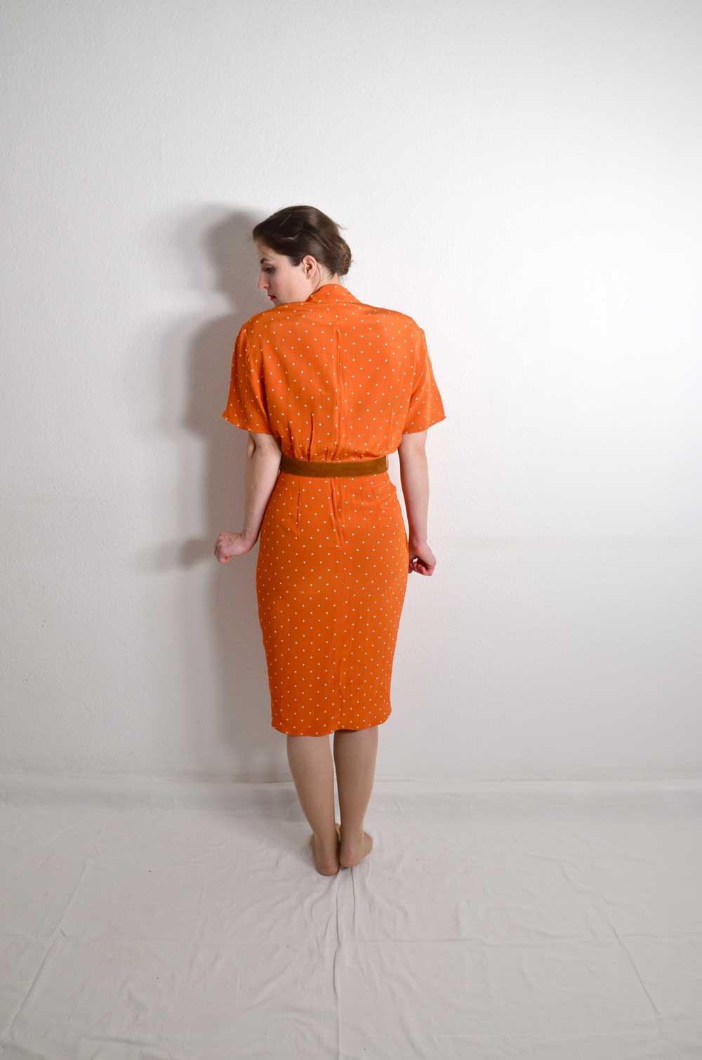 wallis vintage kleid orange minique oma klara. Black Bedroom Furniture Sets. Home Design Ideas