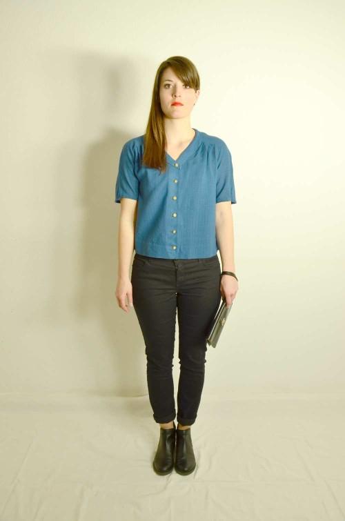 Vintage Bluse Kurzam