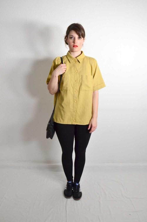 Vintage Bluse kurzarm