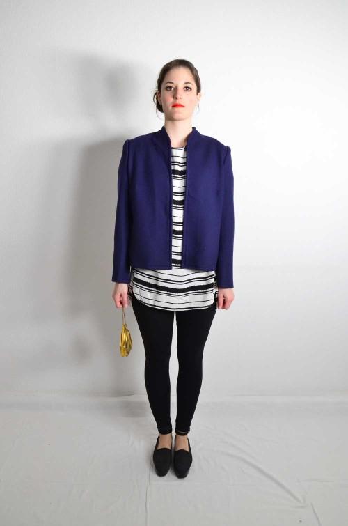 Vintage Jacke Damen Blau