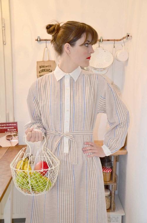 Vintage Kleid gestreift