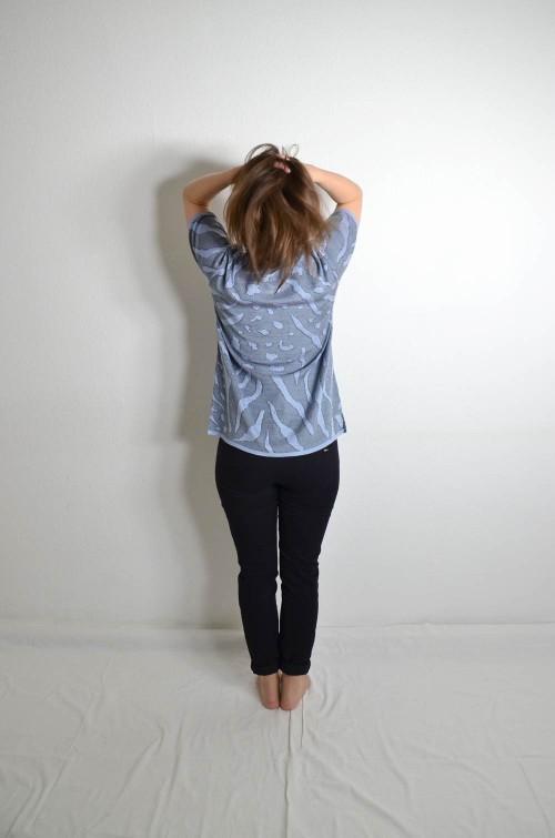 Vintage Shirt blau grau