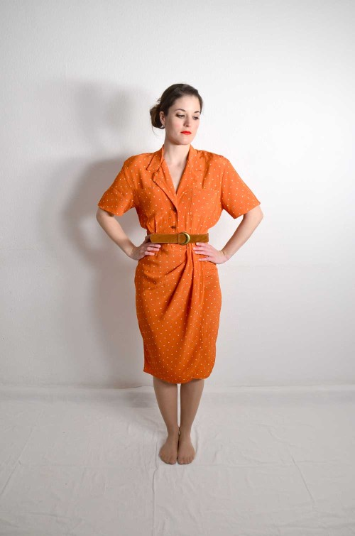 Wallis Vintage Kleid Orange