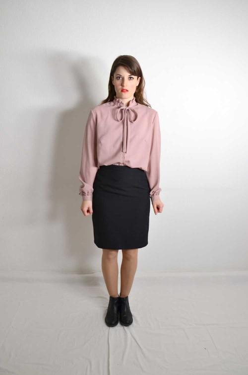 rosa bluse mit rueschen