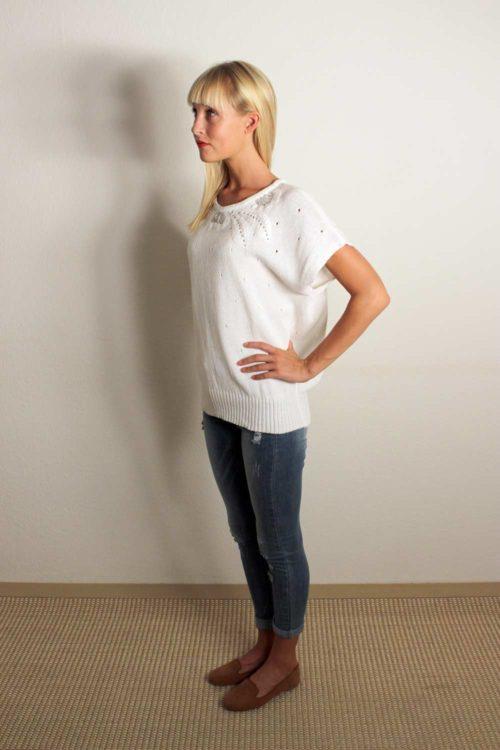 Damen T-Shirt Weiß