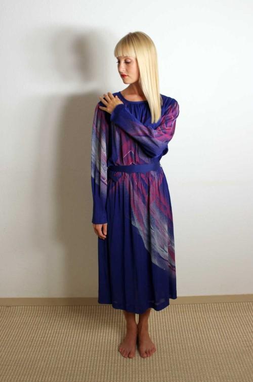 Vintage-Abendkleid-lila