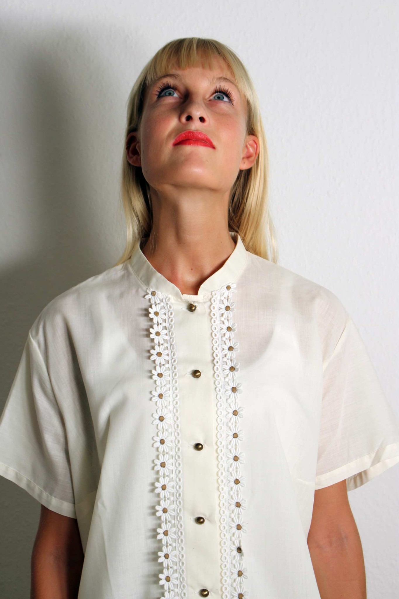 vintage bluse mit spitze briella oma klara. Black Bedroom Furniture Sets. Home Design Ideas