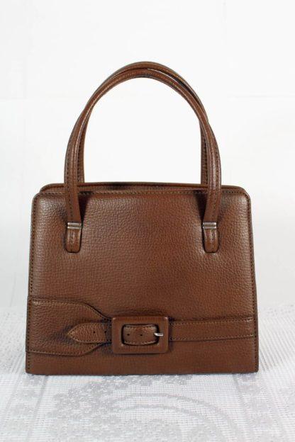 vintage-handtasche-braun-mit-schnalle