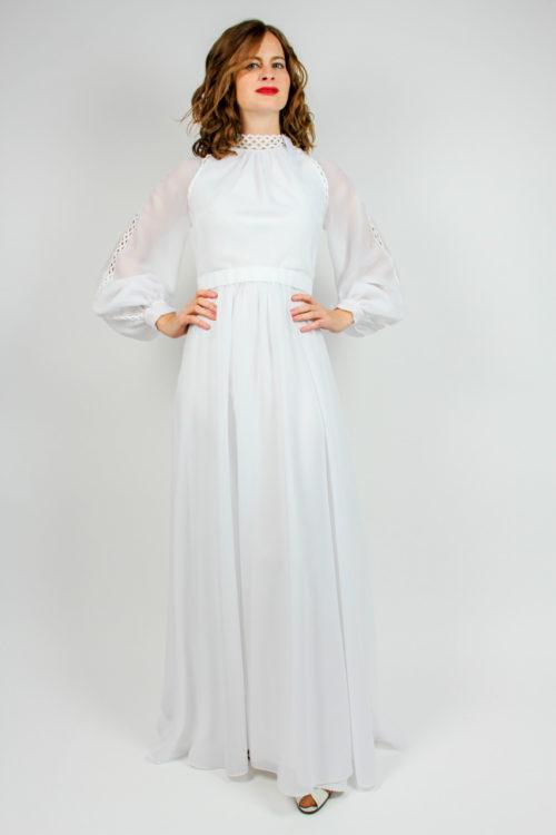 Brautkleid mit Bordüre