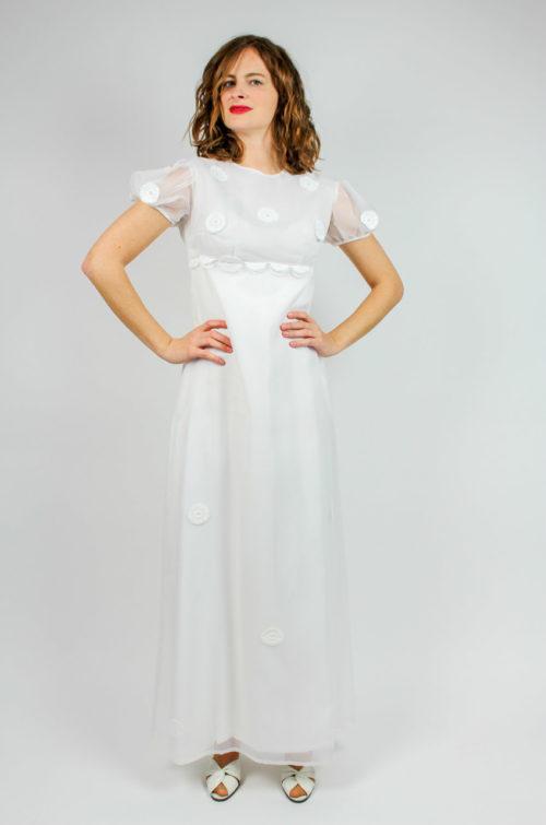 Vintage Brautkleid maxi