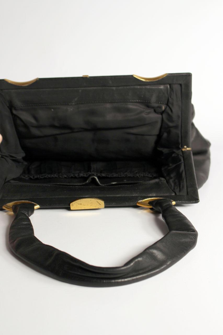 vintage handtasche schwarz die luna oma klara. Black Bedroom Furniture Sets. Home Design Ideas