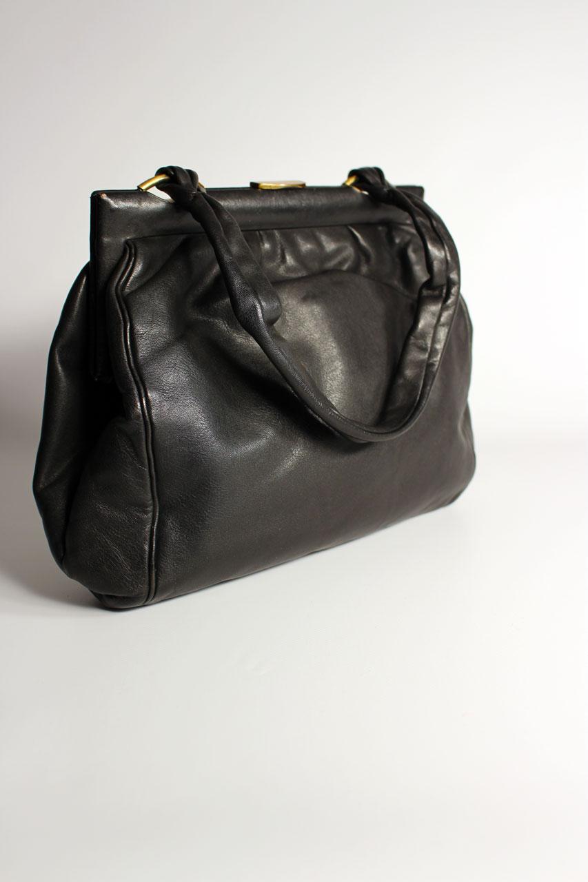 a69b0544e278e Vintage Handtasche Schwarz