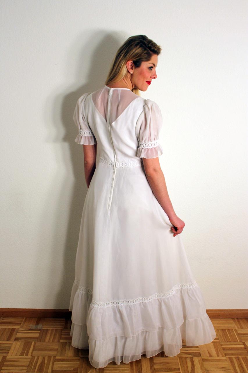 Vintage 70er Jahre Brautkleid \